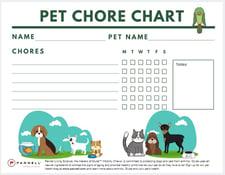 pet chore chart